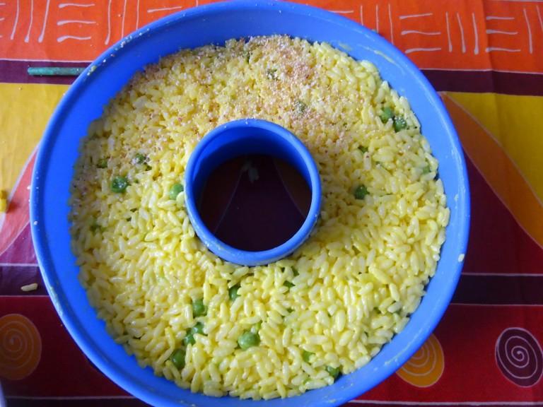 Timballo di riso primaverile senza glutine e lattosio