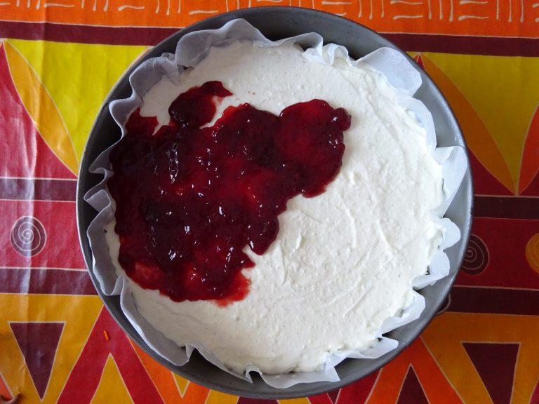 Cheesecake alle ciliegie senza glutine e lattosio